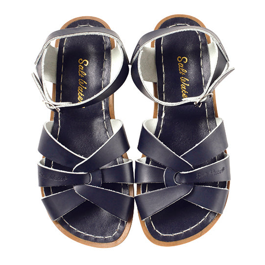 saltwater sandals navy - Chalk