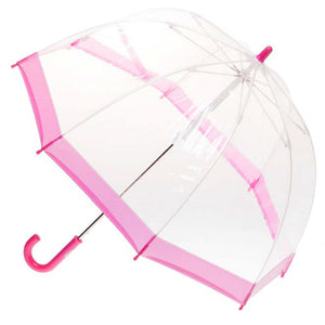 Clifton Brolly Umbrella Clear Pink