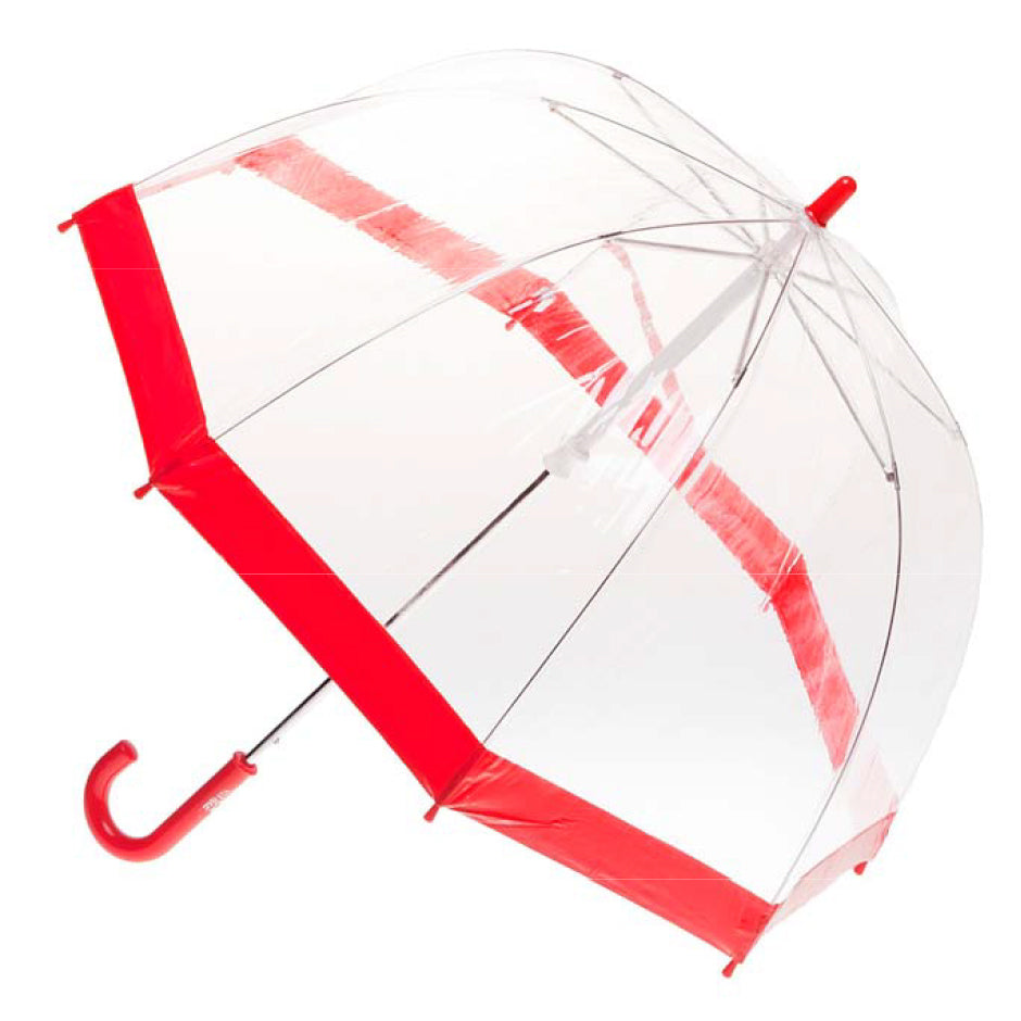 Clifton Brolly Umbrella Clear Red - Chalk