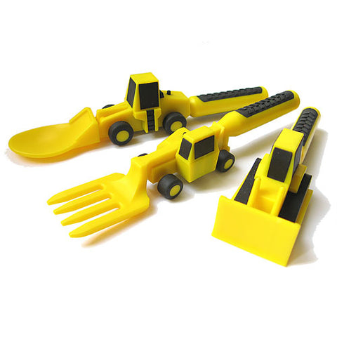 constructive eating construction cutlery - Chalk