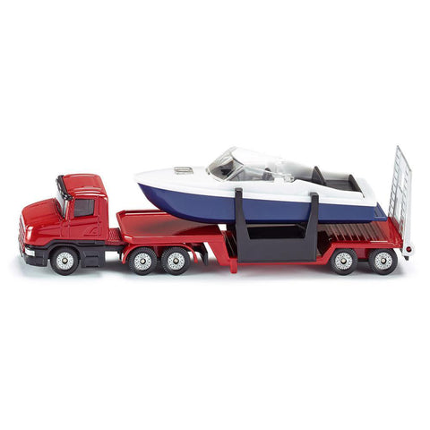 siku low loader with boat - Chalk