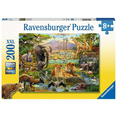 ravensburger puzzle 200pc animals of the savanna - Chalk