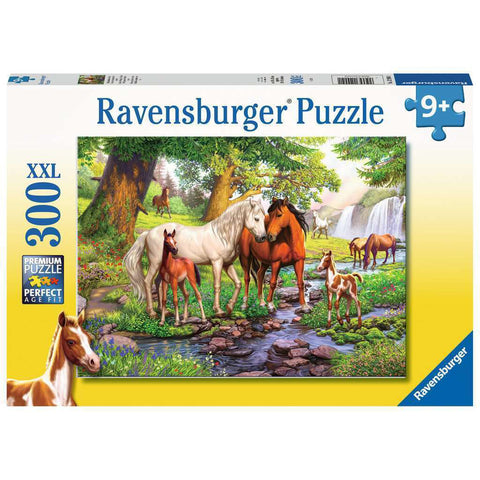 ravensburger puzzle 300pc horses by the stream - Chalk