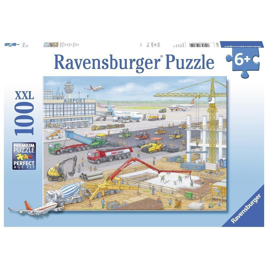 ravensburger puzzle 100pc construction at the airport - Chalk