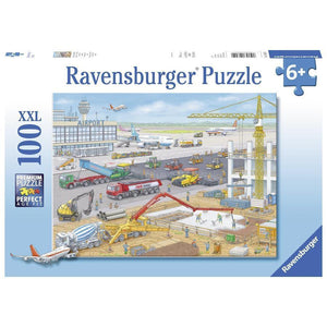 ravensburger puzzle 100pc construction at the airport
