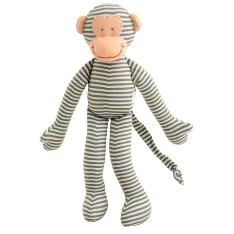alimrose rattle monkey grey - Chalk