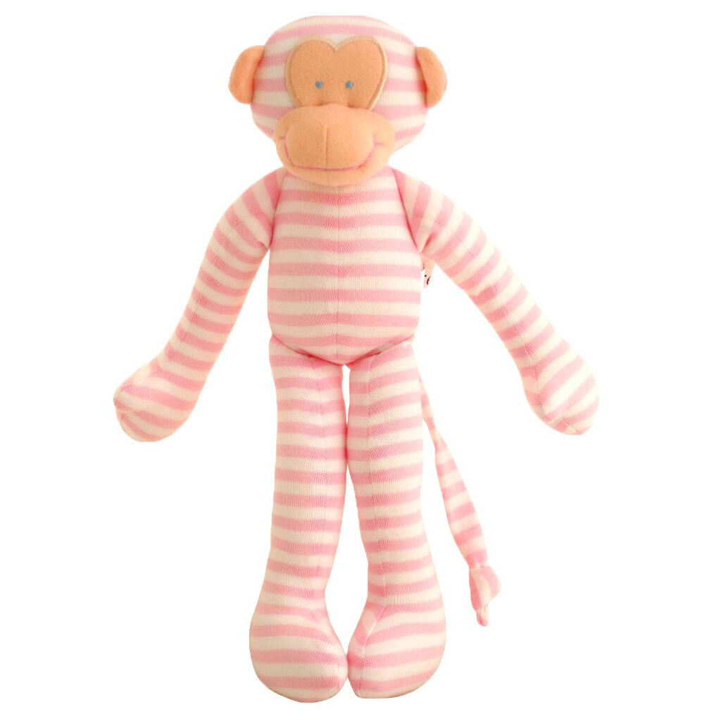 Alimrose Rattle Monkey Pink - Chalk