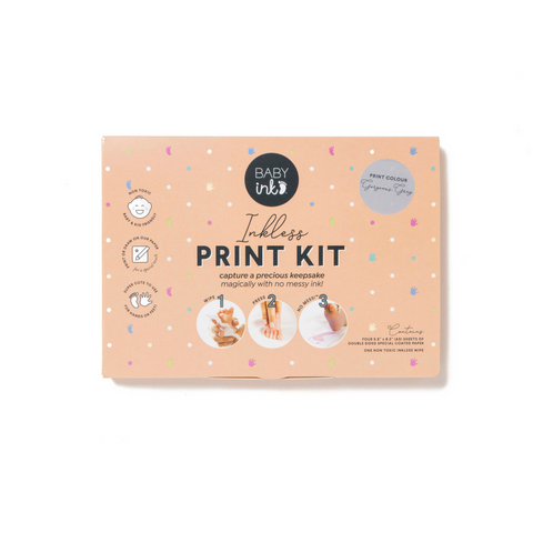 babyink inkless print kit grey - Chalk