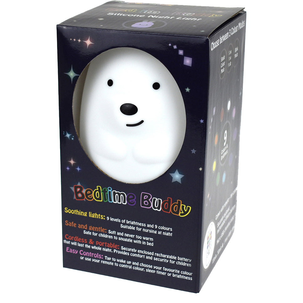 Bedtime Buddy Night Light Teddy Bear - Chalk Melbourne