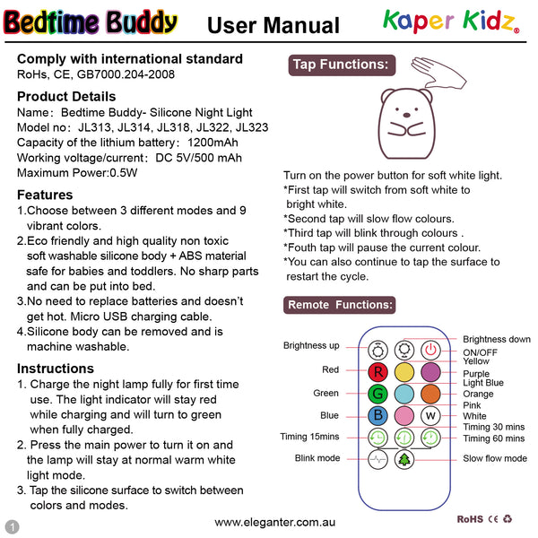 Bedtime Buddy Night Light Skipper Penguin