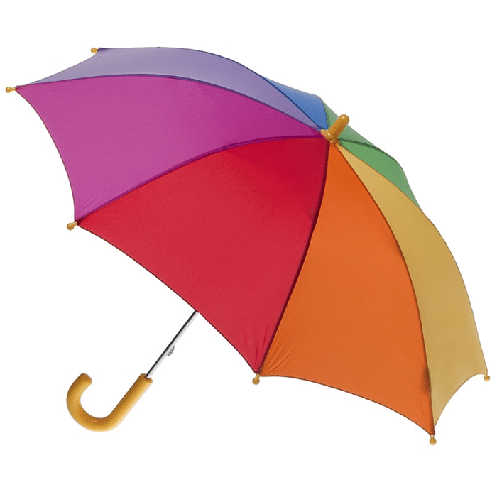 clifton brolly umbrella rainbow - Chalk