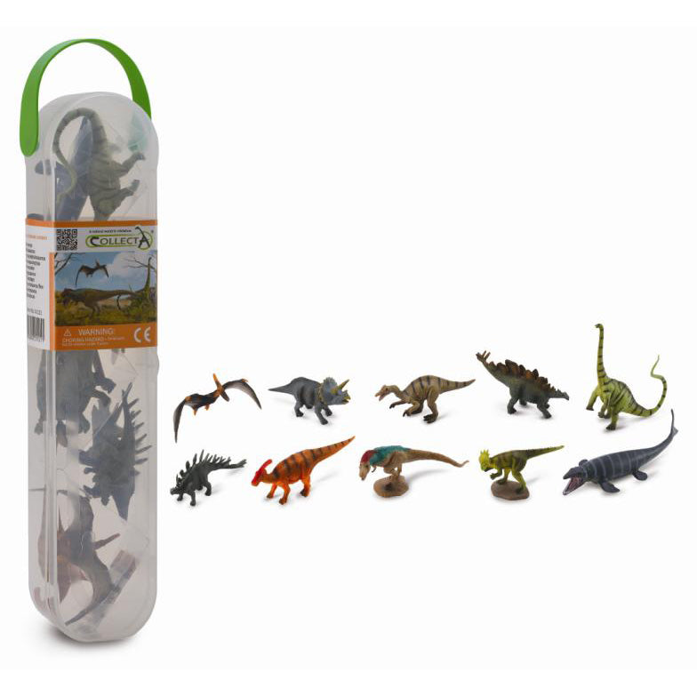 collecta 10 piece dinosaur tube no.1 - Chalk
