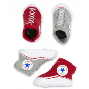 converse infant booties red