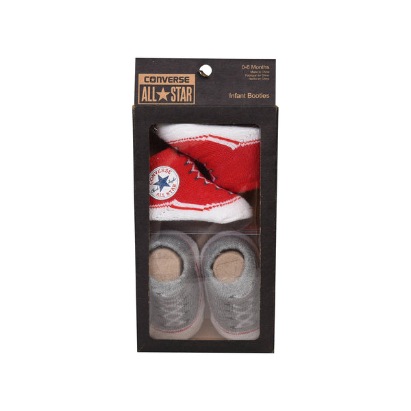 converse infant booties red - Chalk