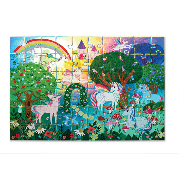 Crocodile Creek Puzzle 60pc Sparkling Unicorn