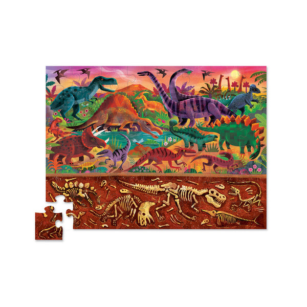 crocodile creek above and below puzzle dinosaur world - Chalk