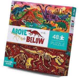 Crocodile Creek Above And Below Puzzle Dinosaur World