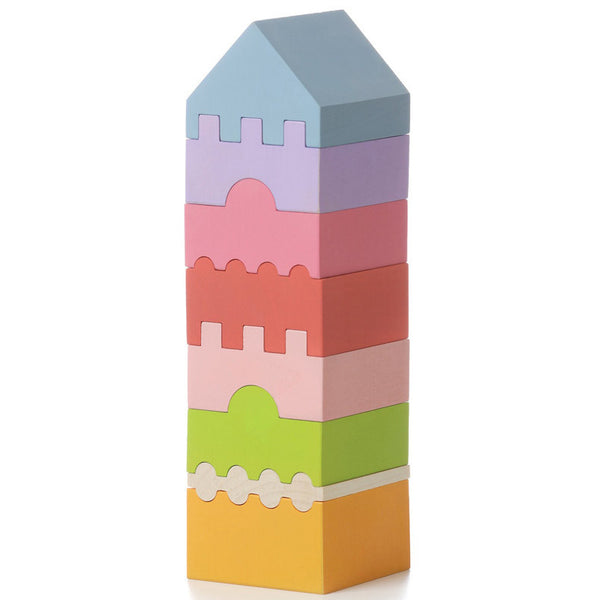 cubika stacking tower 4 - Chalk
