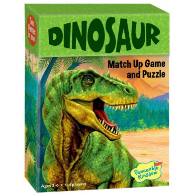 peaceable kingdom match up game dinosaur - Chalk
