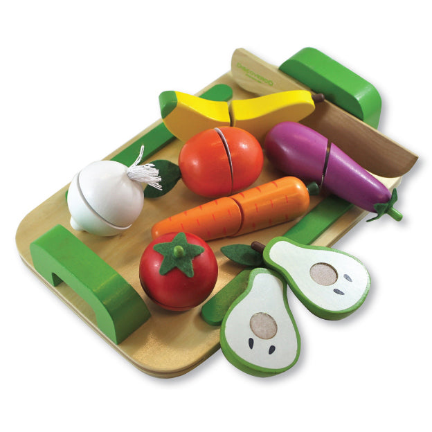 Discoveroo Fruit And Veg Cutting Set - Chalk Melbourne