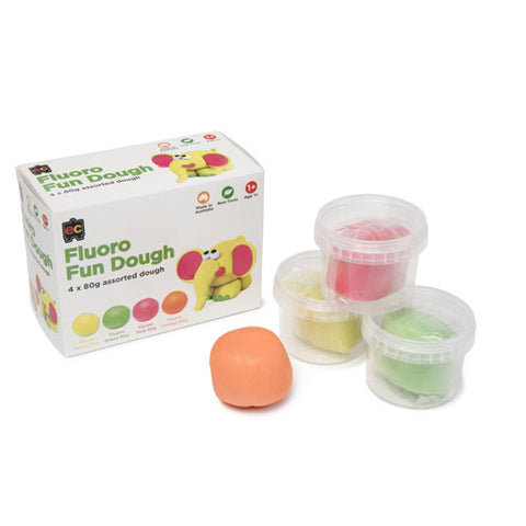 educational colours fluoro fun dough - Chalk