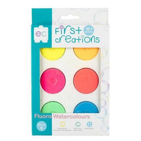 educational colours watercolours fluoro