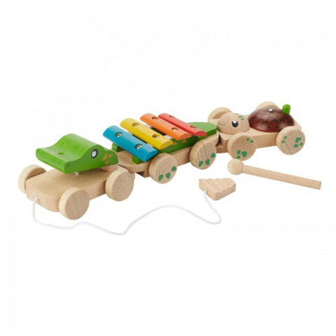 everearth pull along musical crocodile - Chalk