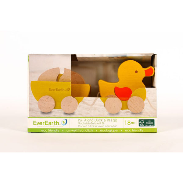 everearth pull along duck and egg