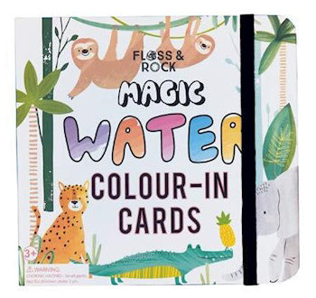 floss & rock magic water colour in cards jungle - Chalk