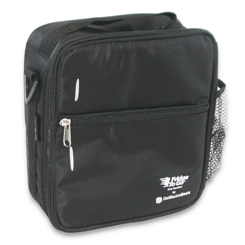 fridge to go insulated lunch bag black
