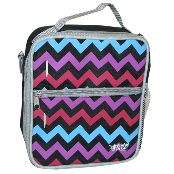 fridge to go insulated lunch bag chevron - Chalk