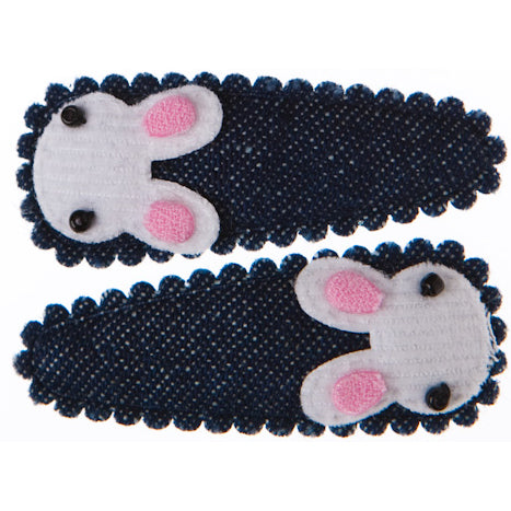 Goody Gumdrops Hair Snaps Bunny White - Chalk