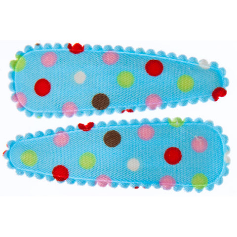 goody gumdrops hair snaps polka blue - Chalk