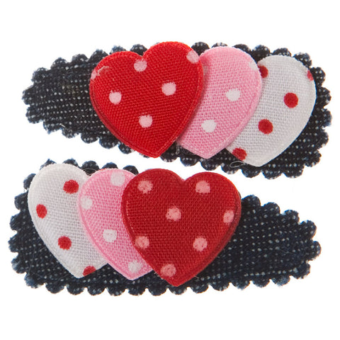 goody gumdrops hair snaps denim hearts - Chalk
