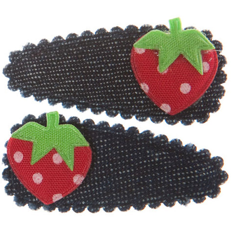 goody gumdrops hair snaps denim strawberry - Chalk