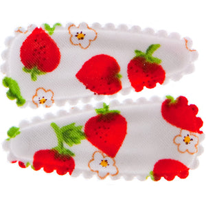 Goody Gumdrops Hair Snaps Small Strawberry White