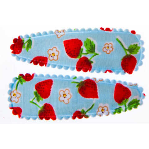 goody gumdrops hair snaps strawberry blue medium