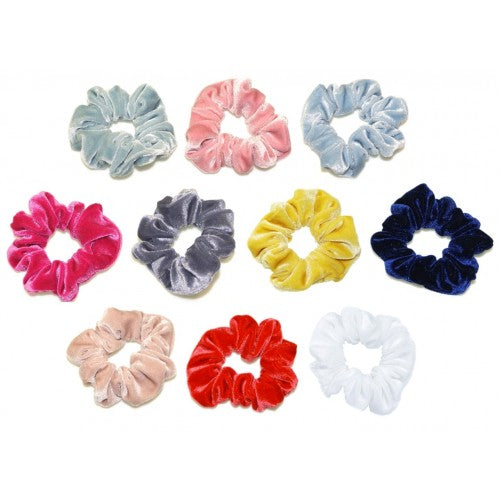 goody gumdrops scrunchie velvet - Chalk