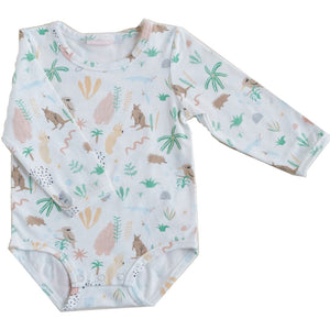 halcyon nights long sleeve bodysuit outback dreamers