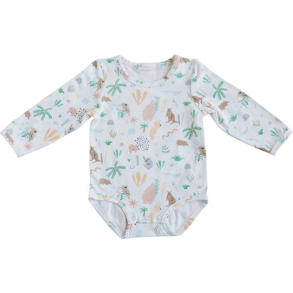 Halcyon Nights Long Sleeve Bodysuit Outback Dreamers - Chalk