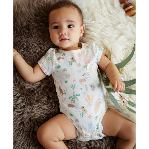 halcyon nights short sleeve bodysuit outback dreamers