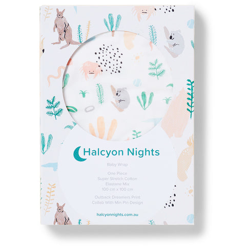 halcyon nights baby wrap outback dreamers - Chalk