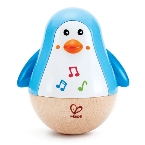 hape penguin musical wobbler - Chalk
