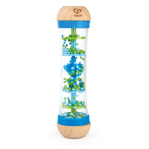 hape beaded raindrops blue