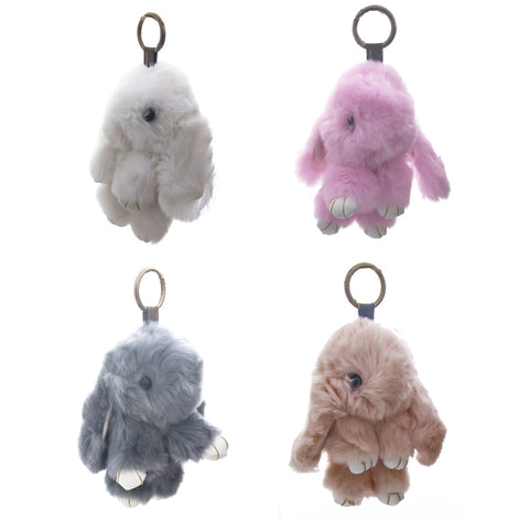 huckleberry bunny bag charms - Chalk