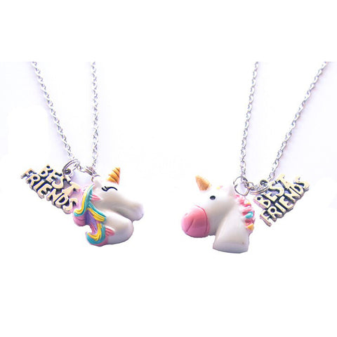 huckleberry make your own bff necklaces unicorn buddies - Chalk