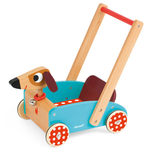 janod crazy doggy cart - Chalk