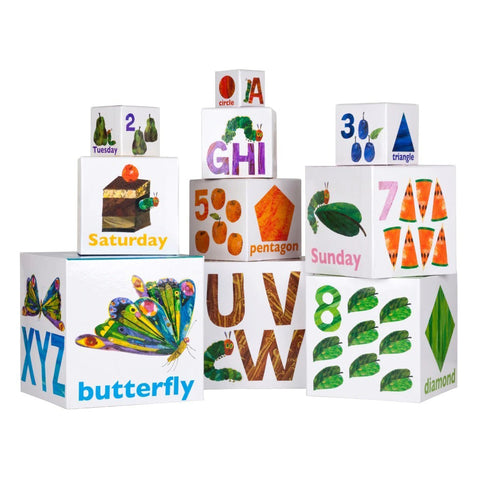 Eric Carle Stackable Learning Blocks Very Hungry Caterpillar - Chalk Melbourne