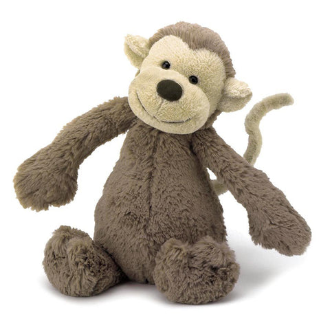 Jellycat Bashful Monkey Medium - Chalk Melbourne
