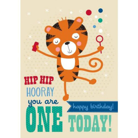 Little Red Owl Card Birthday 1st Tiger